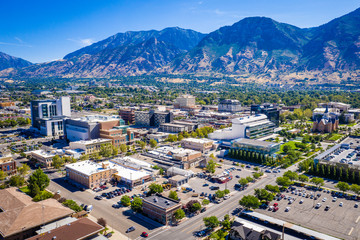 Garden Poster Place of worship Downtown Provo Utah East View 2