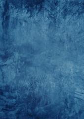 Fototapete - Dark blue texture cement wall as vertical A 4 background.