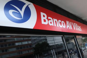The logo of Colombia AV Villas bank is seen in Bogota