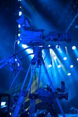 studio camera at the concert.