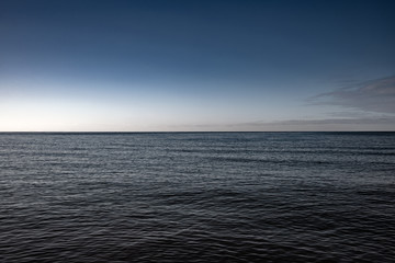Wall Mural - Baltic sea surface in tranquil day.