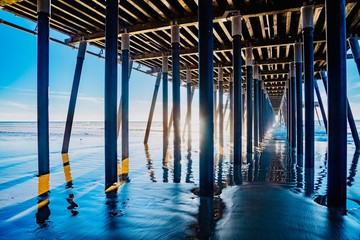 wooden pier Pismo Beach Pacific coast California