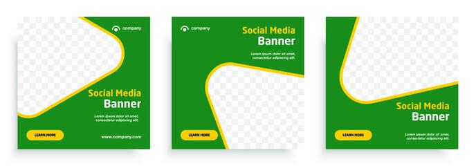Social media post templates set for business. Template Social Media Banners for Digital Marketing. Social media template. Modern promotion square web banner for social media mobile apps