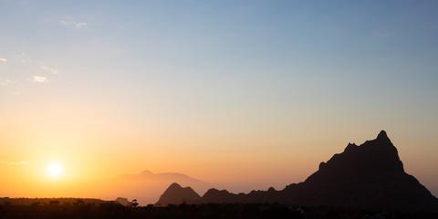Brianda mount in Rebeirao Manuel at sunset in Santiago island in Cape Verde - Cabo Verde