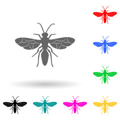 flying ant multi color style icon. Simple glyph, flat vector of insect icons for ui and ux, website or mobile application