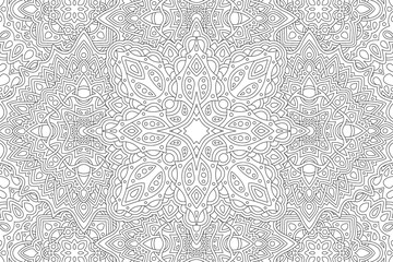 Art for adult coloring book with eastern pattern Fotomurales