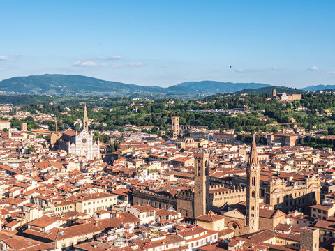 Views of  the Santa Croce in Firenze from Santa Maria del Fiore cathedral