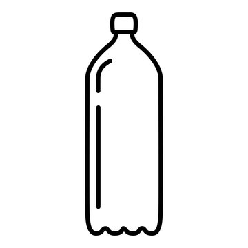 Vector Outline Plastic Bottle Icon