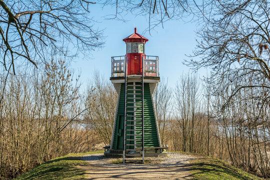 Die Bunthäuser Spitze, der kleinste Leuchtturm in Hamburg