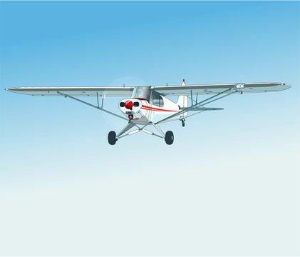 Einmotoriges zweisitziges Flugzeug
