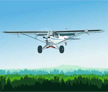 Einmotoriges Buschflugzeug mit Tundrawheels