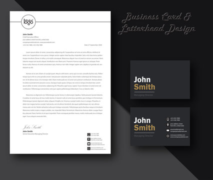 Vector modern creative and clean business card template and Letterhead modern design template and mockup minimalist style vector. design for business or letter layout, brochure, template, newsletter.