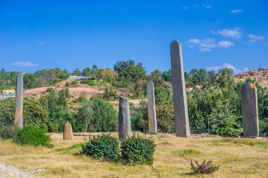 The ancient obelisks from the 4th century in Aksum, Ethiopia
