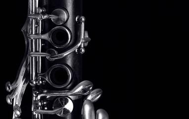 clarinet keys on black Fotomurales