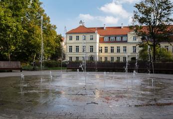 Fountain in Ogród Krasińskich, Warsaw, Poland