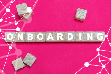 Onboarding Business Banner Background. Onboard Concept. On boarding.