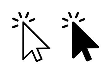 Two modern arrow cursor icons – stock vector