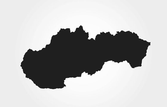 Slovakia map icon. isolated vector geographic template of european country
