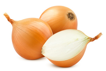 onion, isolated on white background, clipping path, full depth of field Wall mural