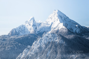 Wall Mural - Watzmann mountain in winter, Bavaria, Germany