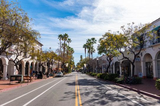 Road of Santa Barbara, California