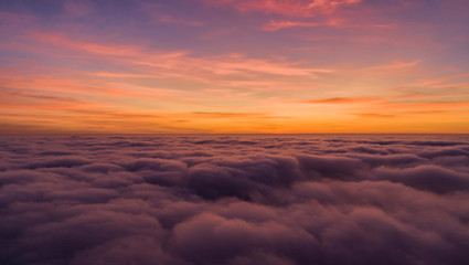 orange sky and gray cloud sky dramatic Panorama mountain and dramatic sky sunrise background and Beautiful colorful sunrise over mountain