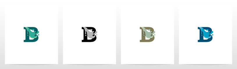 Water Coming Out From Letter Logo Design B