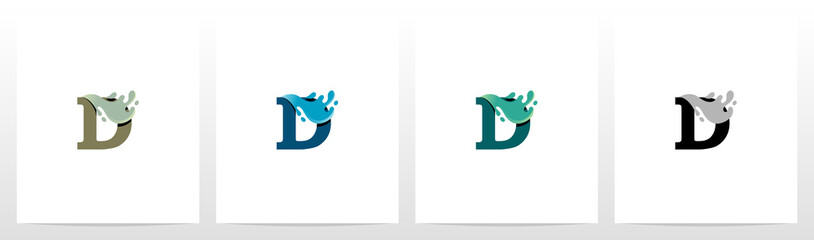 Water Coming Out From Letter Logo Design D