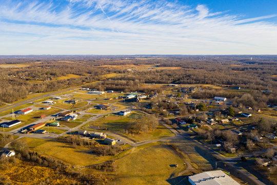 Kuttawa Kentucky aerial photo rural town