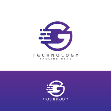technology initial Letter G Logo design, Letter Initial G Speed Logo Design Template