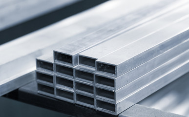 Aluminum profile with rectangle section,