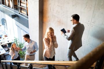 Fotobehang - People meeting communication business brainstorming teamwork concept
