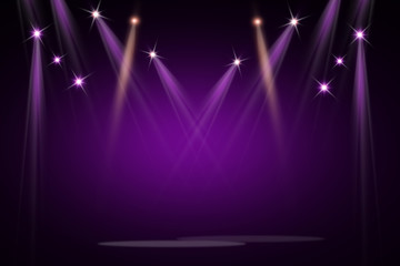 Wall Mural - The concert on stage background with flood lights