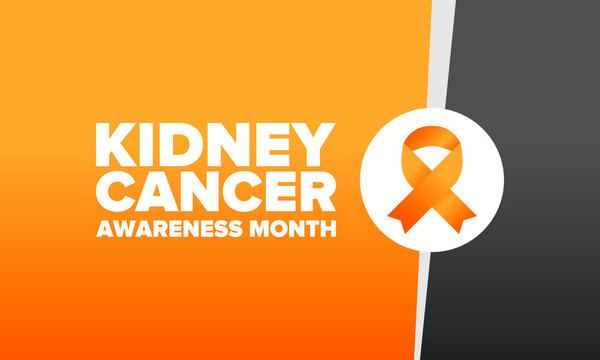 Kidney Cancer Awareness Month. Celebrate annual in March. Control and protection. Prevention campaign. Medical healthcare concept. Poster with ribbon. Banner and background. Vector illustration