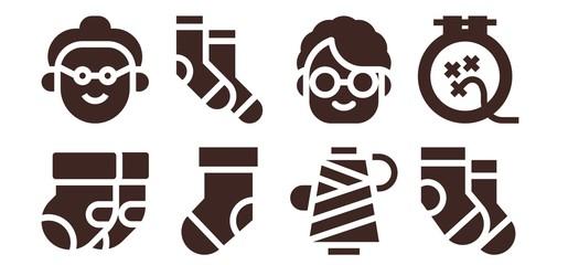 knitting icon set