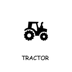 Tractor flat vector icon