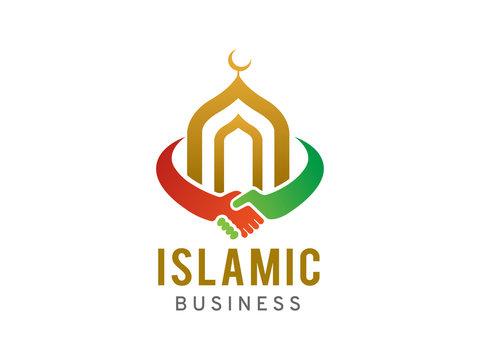 Islamic business logo template design, icon, symbol