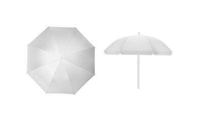 Obraz sun umbrella isolated on white background mock up vector - fototapety do salonu