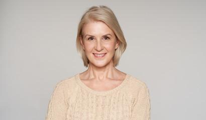 portrait of beautiful senior woman smiling