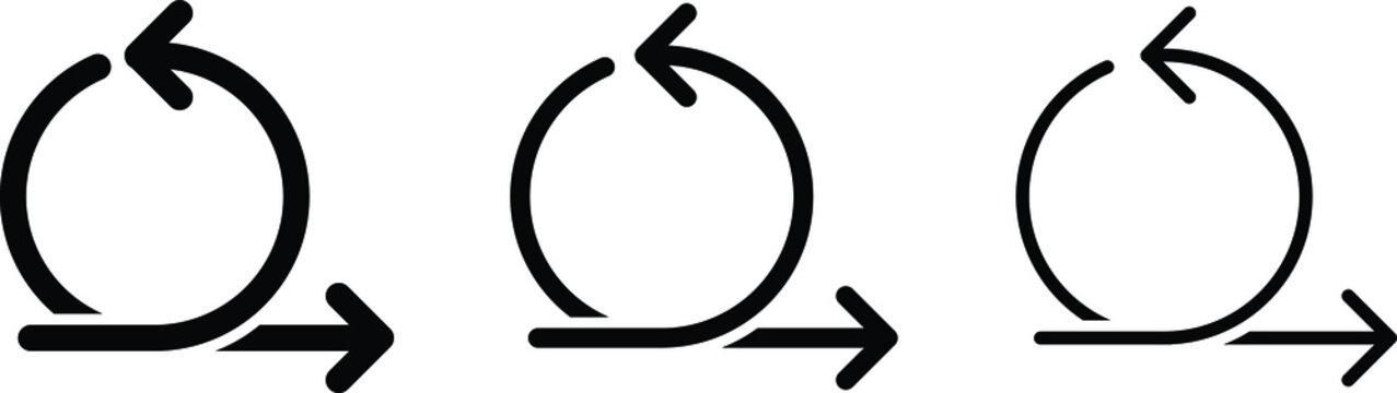 Agile icon, vector line illustration