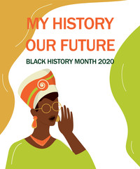 Black history month banner. Celebrated in February in the USA