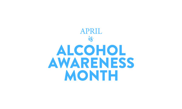 Vector illustration on the theme of Alcohol awareness month observed on April 1st to 30th.