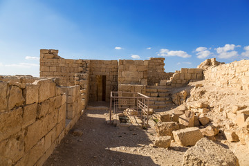 Ruins of the ancient city of Avdat on the Negev mountain, Israel, middle East