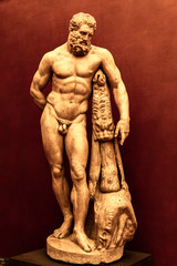 Farnese Hercules from Uffizi Gallery in Florence, Italy