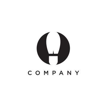 Shoes company logo design vector illustration template