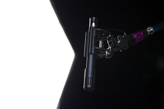 Microphone Boom in Sitcom Studio Set