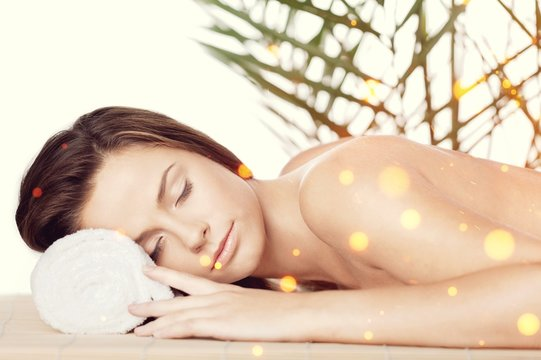 Young woman relaxing in the spa.Healthcare and beauty concept.