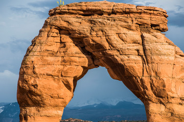 Detail of Delicate Arch in Arches National Park