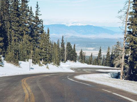 Winding Mountain Winter Wonderland Road