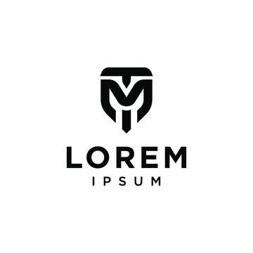 M T TM MT logo letter logotype icon font monogram